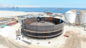 Apuntando al mercado del norte, Gasmar avanza en la construcción de su terminal de Mejillones