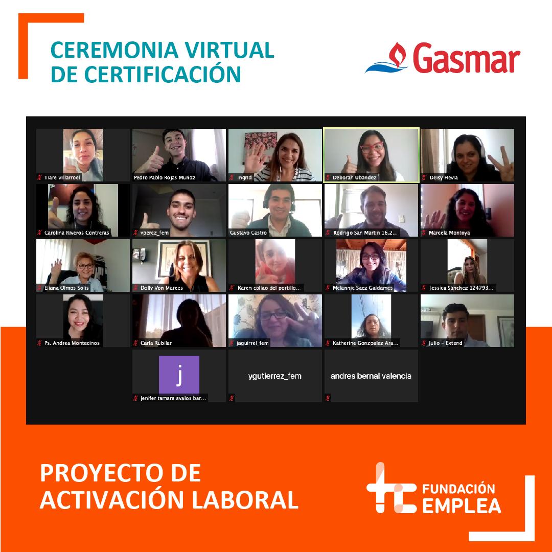 Con éxito finaliza curso de capacitación desarrollado por Fundación Emplea, la Municipalidad de Puchuncaví y Gasmar